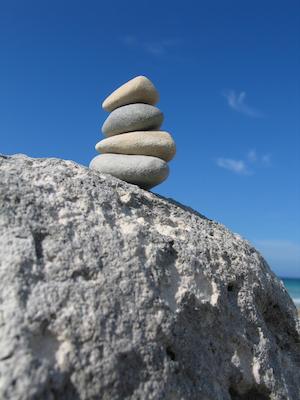 Balancing Zen Rocks